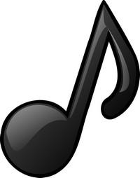 símbolos musicais no teclado