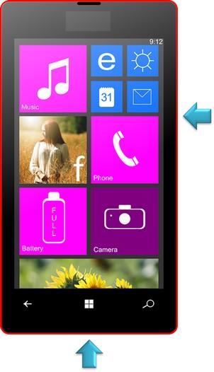 captura da tela windows phone passo 6